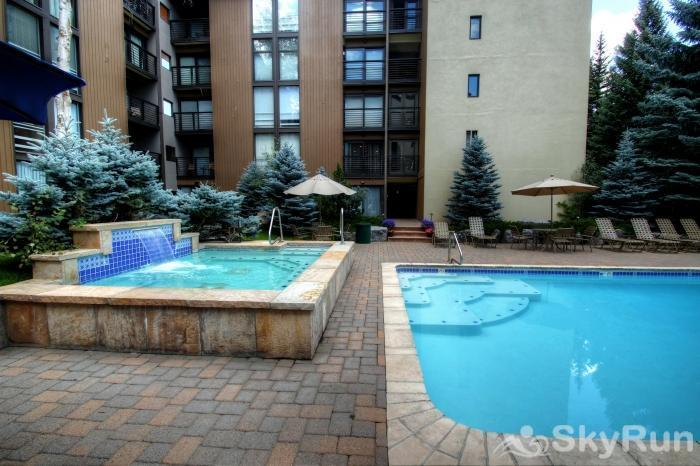 111 Vail International Pool and hot tub